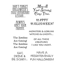 Words to the Rescue Stamps - Halloween, Mummy, Zombies, Eat, Drink & Be Scary