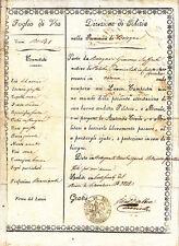 AA629-STATO PONTIFICIO-PASSAPORTO BOLOGNA-CREVALCORE