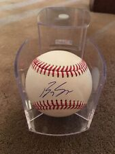 BRADY SINGER  SIGNED AUTOGRAPHED BASEBALL KANSAS CITY ROYALS With Case