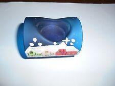 Weihnachts - Teelichthalter für 1 Teelicht aus Glas , blau mit Weihnachtsmotiv