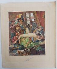 Original érotique lithographie de Edmond Malassis 1928