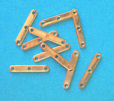 10 gold plated 3-hole spacer bars, jewellery findings