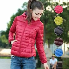 Women's short coat Fashion hooded down Collar jacket warm winter parka outwear
