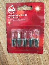 Vintage Christmas Lights  B&Q Replacement Lamps Bulbs 6v  40 Light Sets