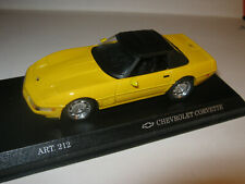 1:43 Chevy Corvette ZR1 Yellow Detail Cars 212 Boxed New