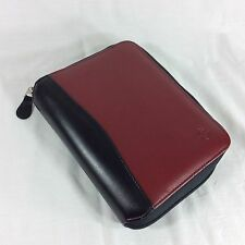 Black Red Compact Size SpaceMaker Franklin Covey Planner Binder Organizer