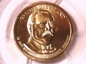 2012 P Grover Cleveland 22nd Presidential Dollar PCGS MS 67 Position A 27853444