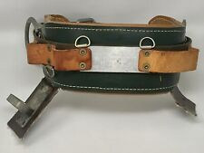 R.H. Buhrke Leather Lineman Tree Pole Climbing Belt Bell System E - Size 18 Rt