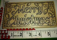 Beautiful Merry Christmas scene, the rubbernecker, big,97,rubber,stamp, wooden