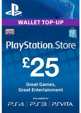UK £ 25 Playstation Network Prepaid Card GBP PSN for ps3 PS 4 PSP code key