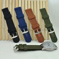 Durable Men Military Army WatchBand Nylon Fabric Wrist Watch Band Strap 18-24MM