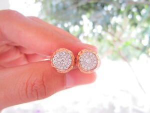 1.95 Carat Face Illusion Diamond Rose Gold Earrings 18k E17 sepvergara