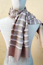 Thailand Handicraft 100% Cotton Large Scarf Shawl Wrap Soft Natural Non-Chemical