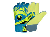 Uhlsport Eliminator Soft Torwarthandschuhe gelb blau Gr.11 Goalkeeper Gloves