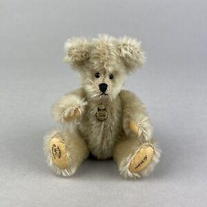 Hermann Teddy Original Ltd Edition Blond Miniature Mohair Bear - 11cm
