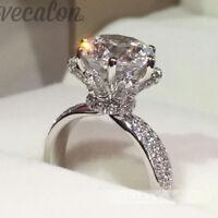 Vecalon Engagement Wedding Band Ring For Women 3Ct Cz Diamoniqu