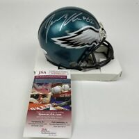 Autographed/Signed JASON KELCE Philadelphia Eagles Mini Football Helmet JSA COA