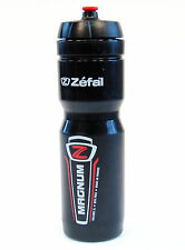 Zefal Magnum 33oz 1L Bike Water Bottle BPA Free Dishwasher Safe Wide Mouth BLACK