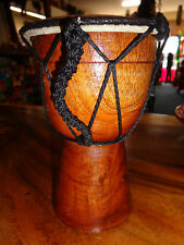 QUALITY HAND MADE DRUM 20 CM HIGH PLAIN BONGO DRUM DJEMBE RRP $25 W/SALE OUTLET