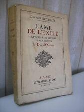 Dr Récamier : Souvenirs des voyages du duc d'Orléans 1927 Andalousie Spitzberg