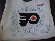 1990'S Phila. Flyers Game Worn Team Auto. Jersey