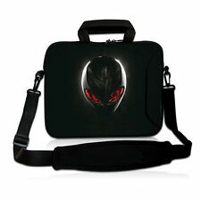 "Black 17"" 17.3"" Laptop Shoulder Bag Sleeve Case+ Po​cket For Dell Alienware M17x"