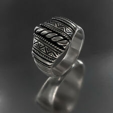 LATVIAN ethnic SILVER RING  from LATVIA handmade with Namejs elements
