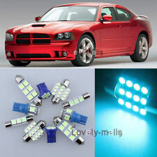 Ice Blue Car Auto Light Interior Package 9x kit for Dodge Charger 2006-2010 LA