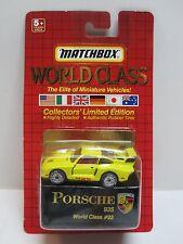 Matchbox World Class PORSCHE 935 World Class # 22 Collector's LE RR Tires Yellow