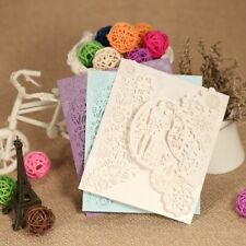 Weddings Groom Bride Laser Cut Invitation Cards Set Hollow Out Wedding Ornaments
