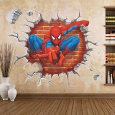 SPIDERMAN 3D Through The Wall Stickers Home Decorationl Kids Home Art Decor