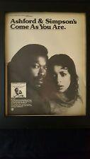 Ashford & Simpson Come As You Are Rare Original Promo Poster Ad Framed!
