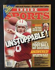 NO LABEL 1990 Inside Sports Unstoppable! Joe Montana