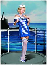 Ship Shape Sweetie Navy Sexy Sailor XLarge Adult Halloween Costume NEW Dreamgirl