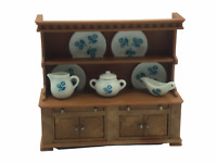 Calico Critters Sylvanian Families VINTAGE Welch Kitchen Dresser China Cabinet