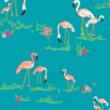 Art Gallery Quilt Fabric West Palm Collection Flamingo Field in Marina 1/2 yard