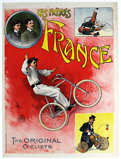 Les Freres France - Original Vintage Bicycle Poster - Cycling - Circus - Faria