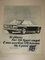 *310=FIAT 124 SPORT COUPE 4 POSTI=ANNI '60=PUBBLICITA'=ADVERTISING=WERBUNG=