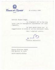 """DOC. CAMERA DEI DEPUTATI CON FIRMA DI """" GIULIO ANDREOTTI """" 1988  25-5"""