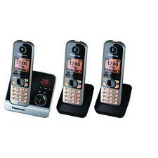 Panasonic Telekom kx-tg6723gb TRIO TELEFONO CORDLESS SEGRETERIA TELEFONICA, Nero