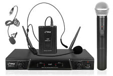 New PDWM2115 VHF Wireless Microphone Handheld, Headset & Lavalier MIC's Receiver
