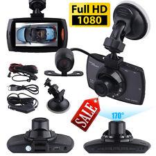 "2.7"" 1080P Dual Lens CAR DVR Dash Cam Video Recorder Night Front + Rear Camera"