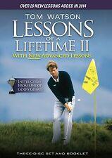 Tom Watson: More Golf Lessons of a Lifetime I + II [3x DVD] *NEU* 1 + 2