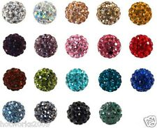 200pcs/lot 10mm mixed micro pave disco crystal shamballa beads bracelet spacer