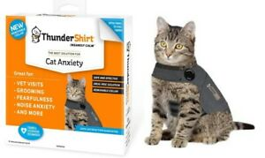 ThunderShirt CAT Anxiety Vest - (1) LARGE Solid Gray - Calming & Stress Help
