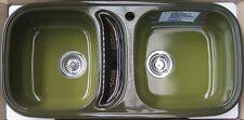BLANCOLOR Blanco Lor Einbauspüle Doppelbecken Doppel-Spüle Agave-Grün 90x43,5 cm
