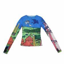 Long Sleeve See Through Top Sheer Mesh Trendy Graphic Tees Tight Basic T Shirt