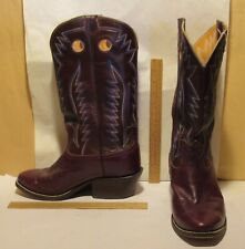 HORSE Hide Hand made - 10 extra wide Western / Cowboy - BOWMAN'S WILSON BOOT CO