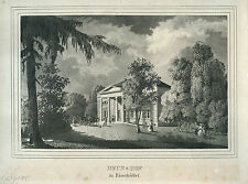 HAMBURG - Eimsbüttel, Ansicht von Heus-Hof, Original-Lithographie 1836!
