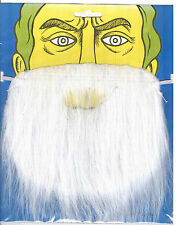 White  Fake Beard for Fancy Dress Party! Witch, Wizard, Smurf, Santa! UK